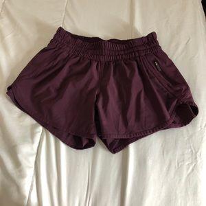 Lululemon Tracker Shorts Burgundy Size 8